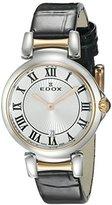 Edox Women's 57002 357RC AR LaPassion Analog Display Swiss Quartz Black Watch