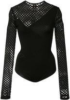 Alexandre Vauthier fishnet long sleeve bodysuit - women - Polyamide/Polyester/Viscose - 1