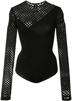 Alexandre Vauthier fishnet long sleeve bodysuit
