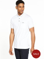 Ted Baker Flat Knit Collar Polo Shirt