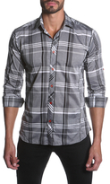 Jared Lang Woven Striped Sportshirt