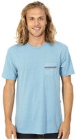 VISSLA Drain Pipes Heathered Short Sleeve Pocket Crew Top