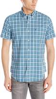 Nautica Men's Wrinkle Resistant Marine Plaid Short Sleeve Shirt
