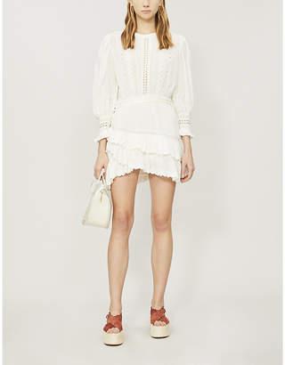 LoveShackFancy Lorelei round-neck cotton mini dress