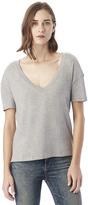 Alternative Boxy Organic Pima Cotton V-Neck T-Shirt