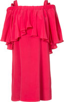 Nicole Miller ruffle dress - women - Silk/Polyester - XS