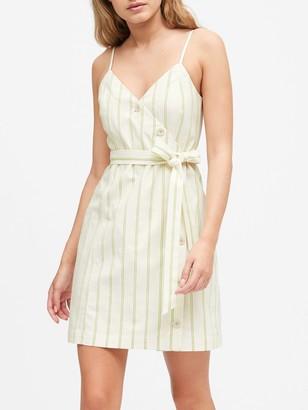 Banana Republic Button-Front Mini Dress
