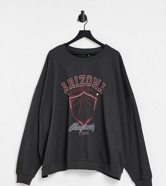ASOS DESIGN Curve sweatshirt with varsity Arizona print