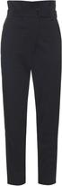 Tibi High-rise tapered-leg cotton-blend trousers