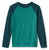 Classic Boys Long Sleeve Textured Raglan Tee-Deep Sea Multistripe