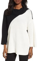 Chaus Women's Colorblock Cowl Neck Sweater