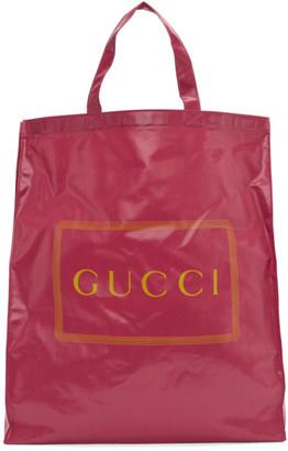 Gucci Pink Medium Logo Tote