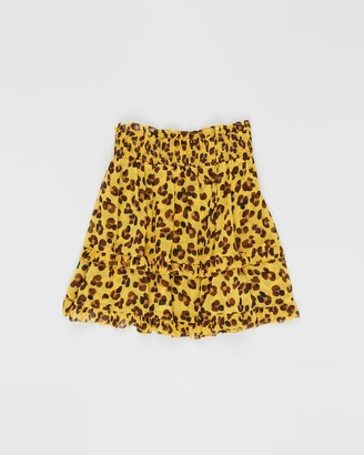 Scotch R'Belle All-Over Printed Jersey Skirt with Woven Top Layer - Teens