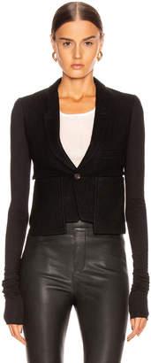 Rick Owens Alice Blazer Jacket in Black | FWRD
