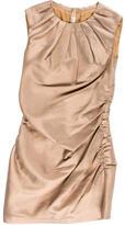 Prada Pleated Mini-Sheath Dress