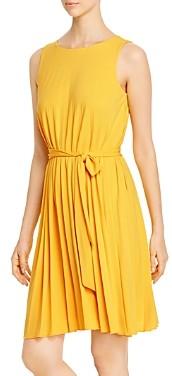 T Tahari Sleeveless Pleated Dress