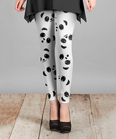 Lily White & Black Panda Slim-Fit Pants - Plus Too