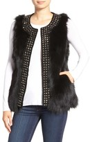 Jocelyn Women's 'Stars' Studded Genuine Fox Fur Vest