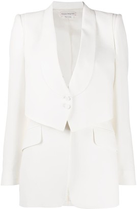 Alexander McQueen Waistcoat-Detail Blazer
