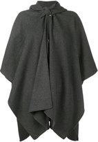 Balenciaga - poncho à design drapé