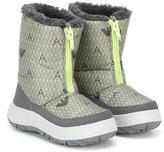 Armani Junior logo print snow boots