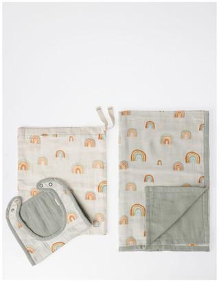 Jack & Milly Organic Muslin Bib & Wrap Gift Set