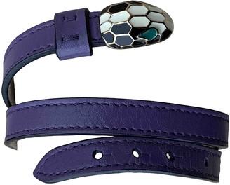 Bvlgari Serpenti Purple Leather Bracelets
