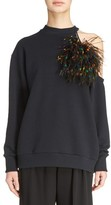 Christopher Kane Women's Pom Pom Cold Shoulder Sweatshirt