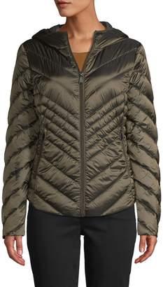 Saks Fifth Avenue Missy Hooded Down Puffer Jacket