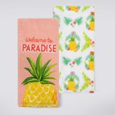 Celebrate Summer Together Pineapple Kitchen Towel 2-pk.