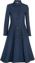 GANNI - Lawrence Crepe Coat - Midnight blue