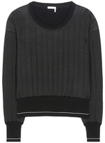 Chloé Quilted Wool-blend Sweater