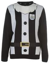 NUFC Mens Newcastle United Christmas Jumper Sweater Pullover Long Sleeve Crew
