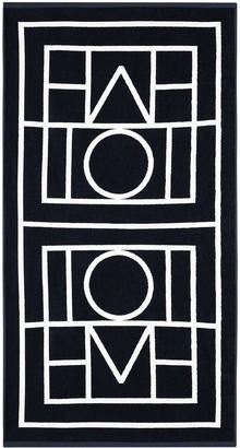 Totême Biarritz logo-print beach towel