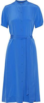 Diane von Furstenberg Addilyn Belted Silk Crepe De Chine Dress