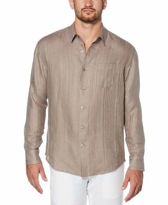 Cubavera Linen Textured Sport Shirt