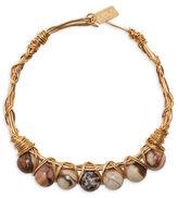 Canvas Tiger Jasper Wire-Wrapped Bracelet