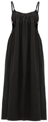 Araks Yeraz Cut-out Cotton-poplin Midi Dress - Womens - Black