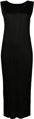 Pleats Please Issey Miyake Plisse -Effect Midi Dress