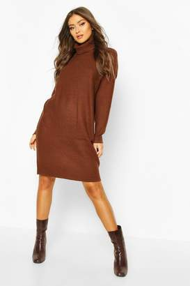 boohoo Ribbed turtle neck Knitted Dress