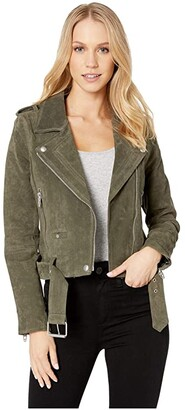 Blank NYC Suede Moto Jacket in Herb (Herb) Women's Coat