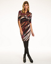 Le Château Stripe Knit Faux Wrap Dress