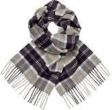 Johnstons Of Elgin Cashmere Check Scarf, Grey