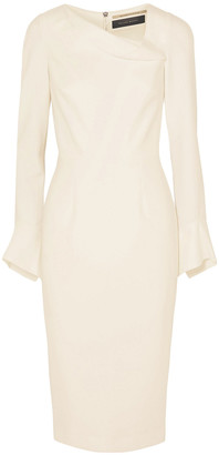 Roland Mouret Liman Fluted Crepe Dress