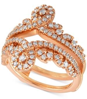 Macy's Diamond Swirled Tiara Enhancer Ring (3/4 ct. t.w.) in 14k Rose Gold