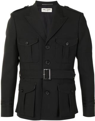 Saint Laurent Belted Military Jacket