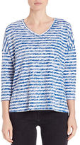 Lord & Taylor Petite Petite Striped Knit Dolman Tee