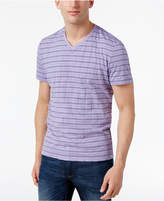 Alfani Men's Stripe V-Neck T-Shirt, Created for Macy's