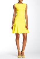 Betsey Johnson Jacquard Flounce Dress