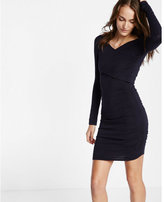 Express ruched crossover front dress